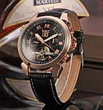 Jaragar Чоловічі класичні механічні годинники Jaragar Turboulion 1007 з автопідзаводом і датою, фото 7