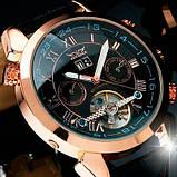 Jaragar Чоловічі класичні механічні годинники Jaragar Turboulion 1007 з автопідзаводом і датою, фото 10