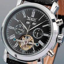 Jaragar Чоловічі класичні механічні годинники Jaragar Silver Star 1009 з автопідзаводом і датою