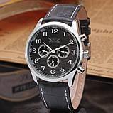 Jaragar Чоловічі класичні механічні годинники Jaragar Elite Black 1013, фото 4