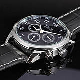 Jaragar Чоловічі класичні механічні годинники Jaragar Elite Black 1013, фото 6