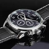 Jaragar Мужские классические механические часы Jaragar Elite Black 1013, фото 6