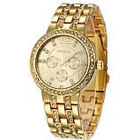 Geneva Женские классические кварцевые часы Geneva Gold, фото 2