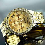 Geneva Женские классические кварцевые часы Geneva Gold, фото 5