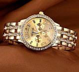 Geneva Женские классические кварцевые часы Geneva Gold, фото 6