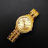 Geneva Женские классические кварцевые часы Geneva Gold, фото 8