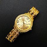 Geneva Женские классические кварцевые часы Geneva Gold, фото 9