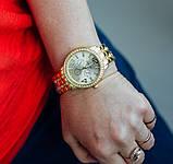 Geneva Женские классические кварцевые часы Geneva Gold, фото 10
