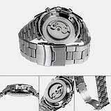 Forsining Мужские классические механические часы Forsining Texas Silver 1047, фото 6