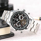 Forsining Мужские классические механические часы Forsining Texas Silver 1047, фото 7