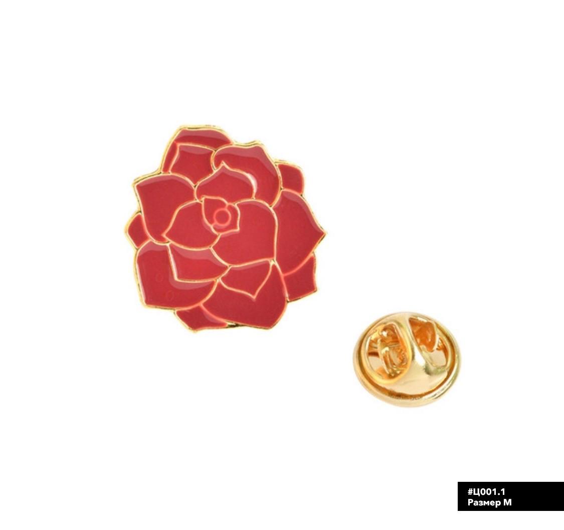 Значок металлический Пин Pin City-A Цветы Роза №995