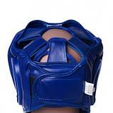 Боксерський шолом PowerPlay тренувальний 3043 Синій L SKL24-144191, фото 3