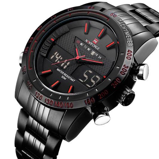 Naviforce Чоловічі спортивні кварцові годинники Naviforce Army Black NF9024
