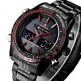 Naviforce Чоловічі спортивні кварцові годинники Naviforce Army Black NF9024, фото 2