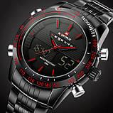 Naviforce Чоловічі спортивні кварцові годинники Naviforce Army Black NF9024, фото 3