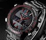 Naviforce Мужские спортивные кварцевые часы Naviforce Army Black NF9024, фото 4