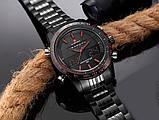 Naviforce Мужские спортивные кварцевые часы Naviforce Army Black NF9024, фото 6
