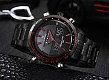 Naviforce Мужские спортивные кварцевые часы Naviforce Army Black NF9024, фото 7