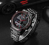Naviforce Мужские спортивные кварцевые часы Naviforce Army Black NF9024, фото 8