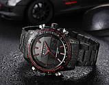 Naviforce Чоловічі спортивні кварцові годинники Naviforce Army Black NF9024, фото 9