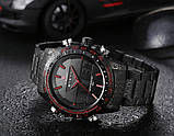 Naviforce Мужские спортивные кварцевые часы Naviforce Army Black NF9024, фото 9