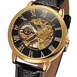 Forsining Мужские классические механические часы Forsining Rich Black 1120, фото 3