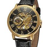 Forsining Мужские классические механические часы Forsining Rich Black 1120, фото 5