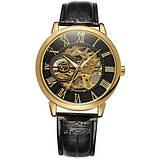 Forsining Мужские классические механические часы Forsining Rich Black 1120, фото 6