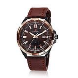 Naviforce Мужские классические кварцевые часы Naviforce Advanter Brown 1064, фото 2