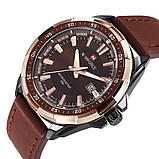 Naviforce Мужские классические кварцевые часы Naviforce Advanter Brown 1064, фото 3