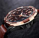 Naviforce Мужские классические кварцевые часы Naviforce Advanter Brown 1064, фото 4
