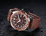 Naviforce Чоловічі класичні кварцові годинники Naviforce Advanter Brown 1064, фото 8