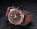 Naviforce Мужские классические кварцевые часы Naviforce Advanter Brown 1064, фото 8