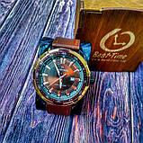 Naviforce Мужские классические кварцевые часы Naviforce Advanter Brown 1064, фото 10