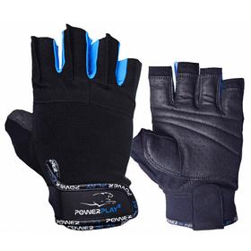 Рукавички для фітнесу PowerPlay 3092 Чорно-Сині S SKL24-144208