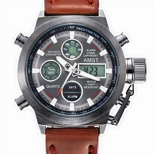 AMST Чоловічі спортивні кварцові годинники AMST Mountain Brown 1233