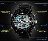 Skmei Спортивні чоловічі наручні годинники Skmei Black 1016, фото 3
