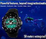 Skmei Спортивні чоловічі наручні годинники Skmei Black 1016, фото 5