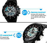 Skmei Спортивні чоловічі наручні годинники Skmei Black 1016, фото 8
