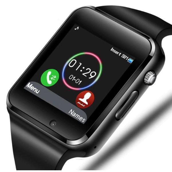 UWatch Умные смарт часы с сим-картой 2018 года Smart A1 Turbo UWatch 5015 Black
