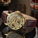 Winner Женские часы Winner Gold  Brown, фото 4