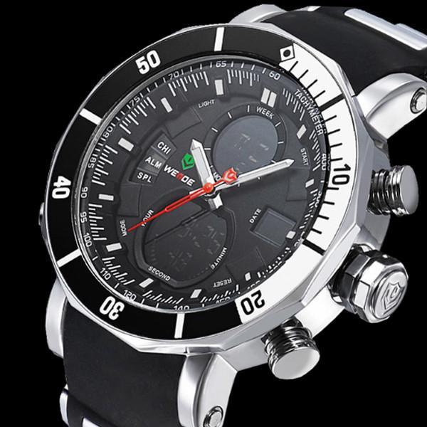 Weide Мужские спортивные кварцевые часы Weide Kasta Black 1239