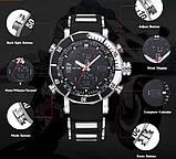 Weide Мужские спортивные кварцевые часы Weide Kasta Black 1239, фото 10