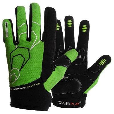 Велорукавички PowerPlay 6556 А Зелені XL SKL24-144282