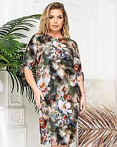 Платье 650 хаки роза (#171 с001), фото 2