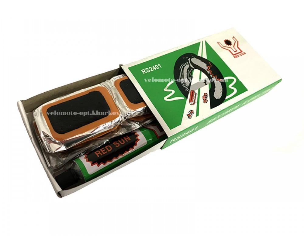 Латка №2401 для ремонта велосипедных камер (10шт. в упаковке)