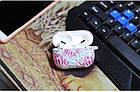 Силіконовий чохол з карабіном для навушників Apple Airpods Pro Рожевий феєрверк, фото 2