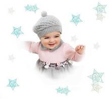 Чепчики, шапочки для новорожденных