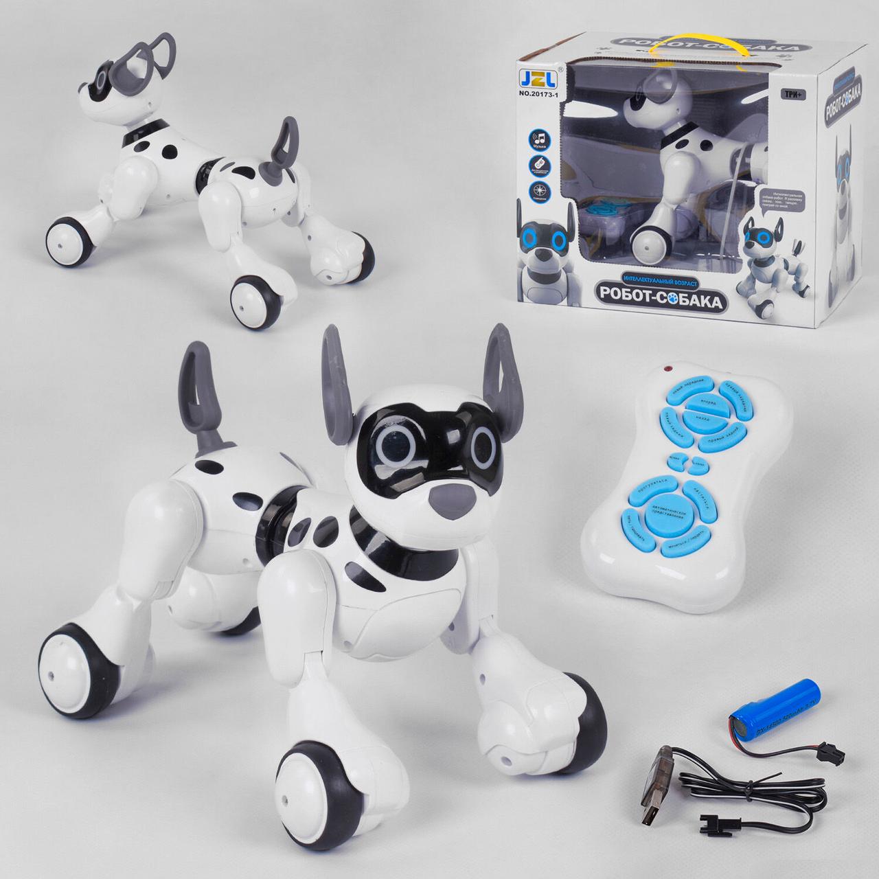 Собачка на р/у 20173-1 акум.3.7 V., пульт д/у, підсвічування, звук, ходить, танцює