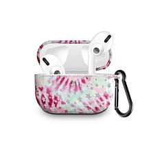 Силиконовый чехол с карабином для наушников Apple Airpods Pro Розовый фейерверк
